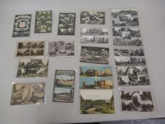 Collection of eighteen composite postcards, views of Croydon including eight RP's