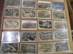 Collection of twenty postcards aerial views of Croydon, all RP's