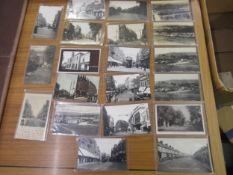 Twenty postcards, Croydon related including fifteen RP's, mainly views of the High Street