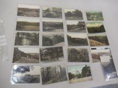Twenty postcards, Croydon related including fifteen RP's, Croham Hurst near Croydon, various views