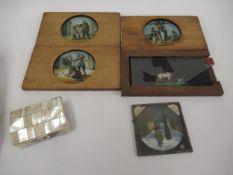 Five various magic lantern slides (one at fault)