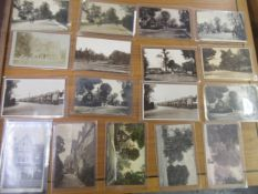 Collection of seventeen postcards, views of Addiscombe Road, Croydon, including ten RP's