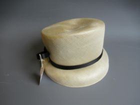 Philip Treacy, London, ladies cream and black hat