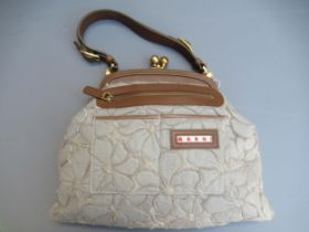 Marni grey floral applique handbag, complete with original tag and dust cover