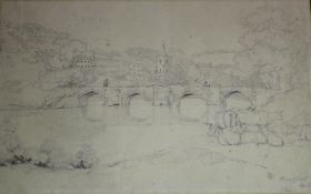 SAMUEL PROUT (1783-1852) BRADFORD ON AVON, WILTSHIRE Signed and inscribed Bradford/ Wilts, pencil 19