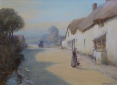 JOHN WHITE (1851-1933) `BUY A BROOM`, AXMOUTH, NEAR BRANSCOMBE Signed, watercolour and bodycolour 25
