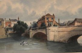 HARRY FRIER (1849-1921) TAUNTON: OLD TOWN BRIDGE; PART OF THE EAST SIDE OF NORTH STREET Two, both