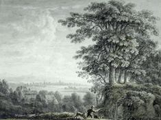 ANTHONY DEVIS (1729-1817) A DISTANT VIEW OF SHAFTESBURY FROM MOTCOMBE, DORSET Inscribed in another