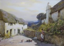 JOHN WHITE (1851-1933) THE DINNER HOUR, NEAR RINGMORE, TEIGNMOUTH Signed, watercolour and bodycolour