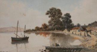 HARRY FRIER (1849-1921) SCOTTISH SCENE Signed and dated 1899, watercolour 19.5 x 36cm. ++ Slight
