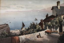 HARRY FRIER (1849-1921) ROSE COTTAGE, CLOVELLY Watercolour and pencil 23.5 x 35cm. Provenance: A