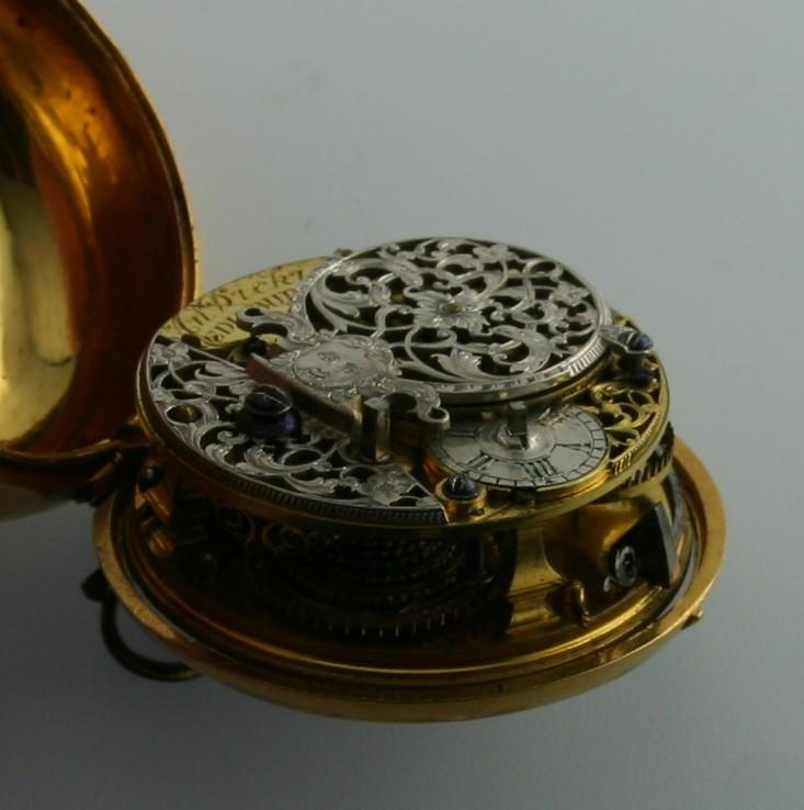 AN 18TH CENTURY GOLD PAIR CASED POCKET WATCH BY ANDREW DICKIE the signed gold dial with Roman - Image 4 of 6