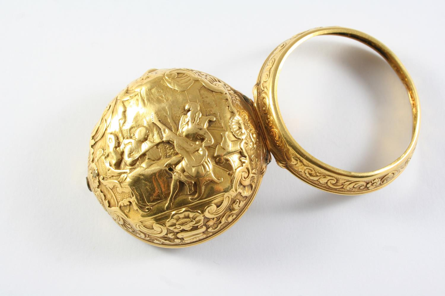 AN 18TH CENTURY GOLD PAIR CASED POCKET WATCH BY ANDREW DICKIE the signed gold dial with Roman - Image 2 of 6