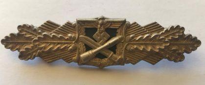 A CLOSE COMBAT BAR, SILVER CLASS. A Second World War or later Close Combat bar, silver class, with a