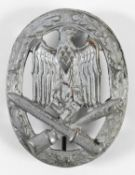 A GENERAL ASSAULT BADGE. A Second World War or later German Assault Badge with an army eagle with