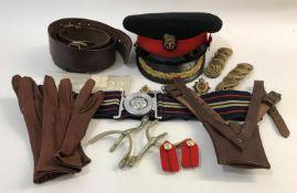 A No1 DRESS UNIFORM COLONEL'S CAP AND OTHER RELATED MILITARIA. A No1 Dress uniform cap for the