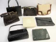 VINTAGE BAGS & ACCESSORIES a mixed lot including two pairs of Christian Dior stockings in original