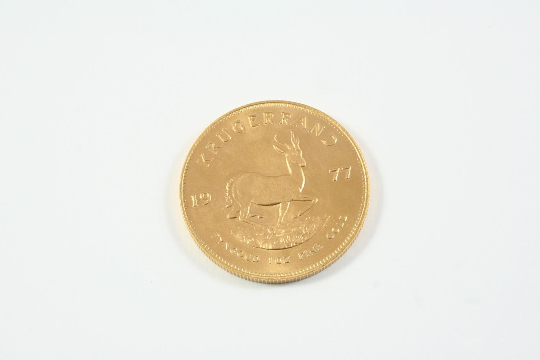 A GOLD KRUGERRAND 1977