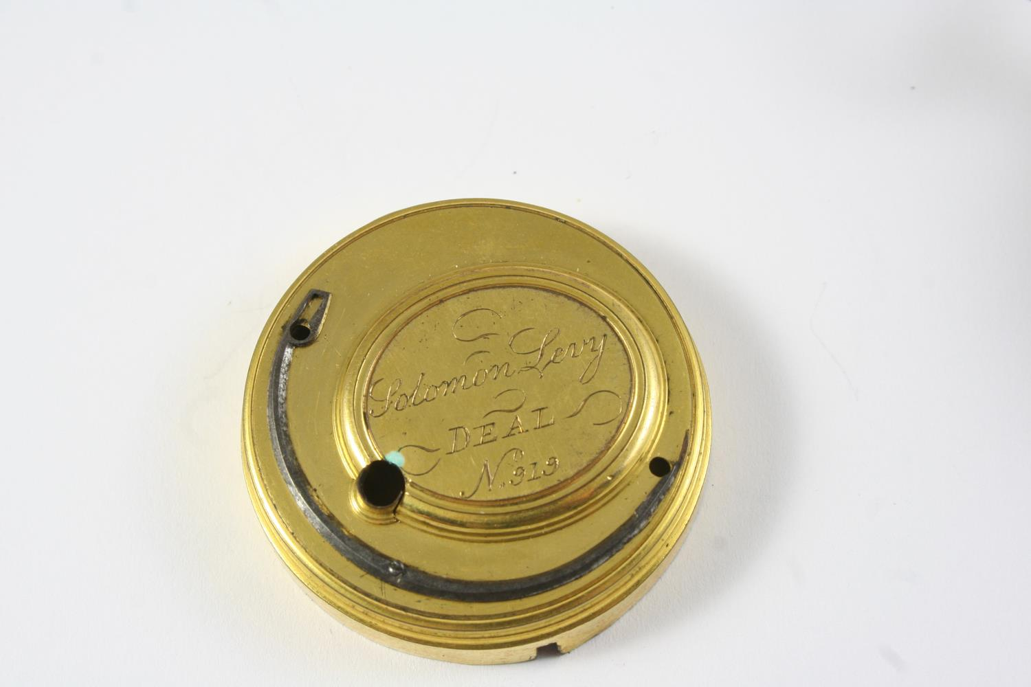 A SILVER PAIR CASED VERGE POCKET WATCH the white enamel dial with Roman numerals, the movement - Image 4 of 6