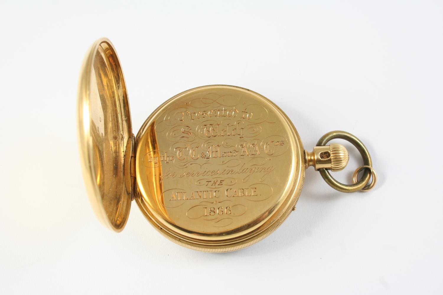 AN EARLY KEYLESS 18CT GOLD OPEN FACED POCKET WATCH BY NICOLE & CAPT, 14 SOHO SQ., LONDON the - Image 3 of 6