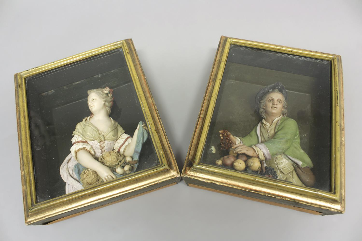 BERNARD CASPAR HARDY (1726-1819): PAIR OF RELIEF SCULPTURES. A pair of late 18th or early 19th