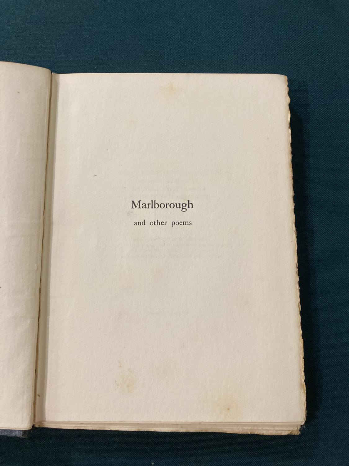 Sorley, Charles Hamilton. Marlborough and other poems, first edition, photographic portrait - Image 6 of 9