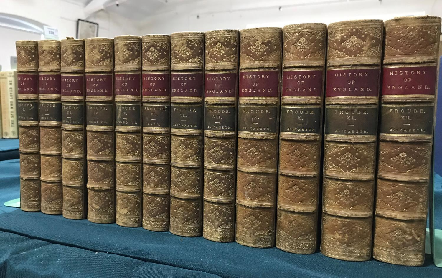 Froude, James Anthony. History of England, 12 volumes, new edition, lightly browned, contemporary