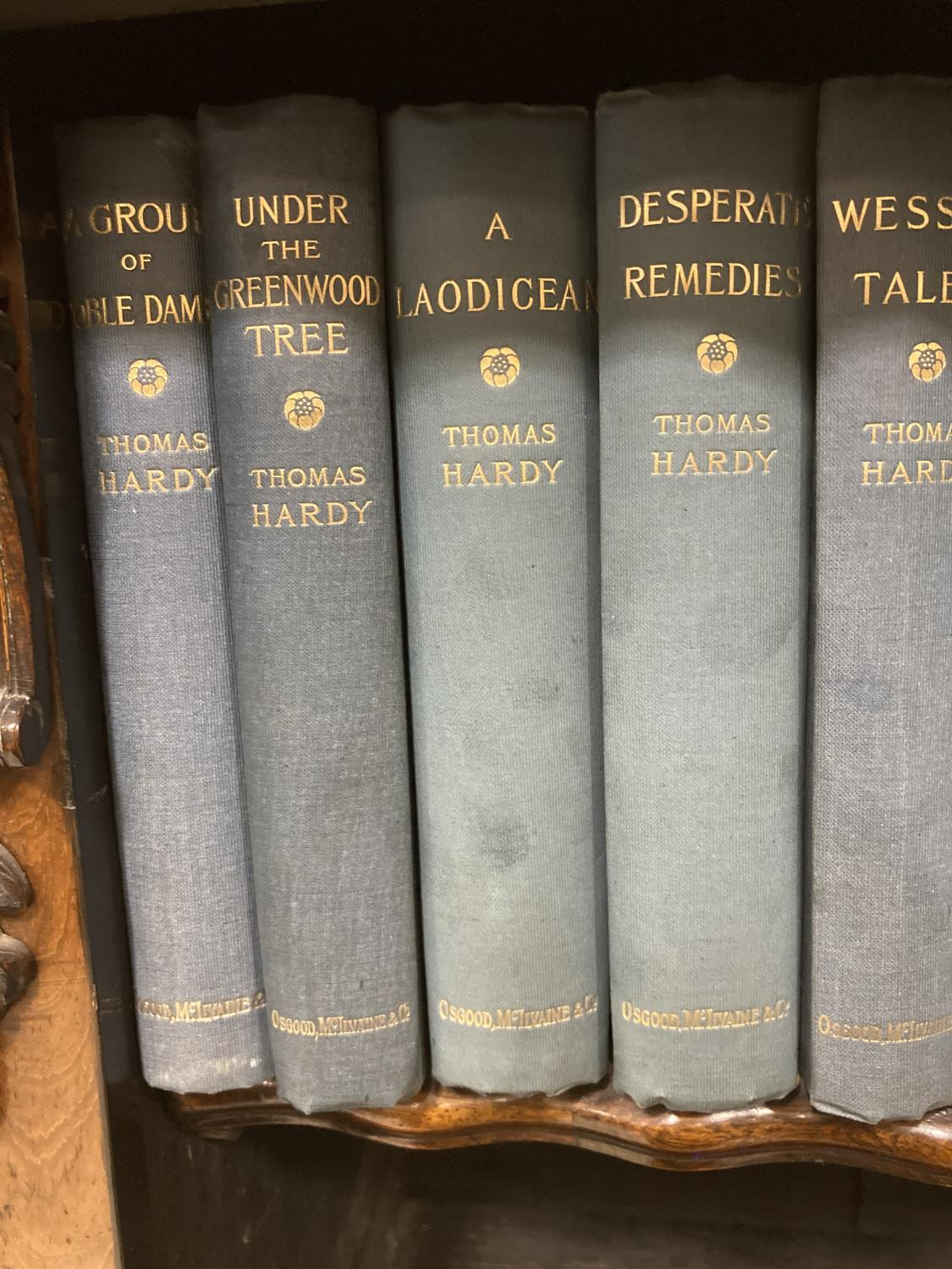 Hardy, Thomas. [Works] The Wessex Novels, volumes 1-16 only, engraved frontispieces, original