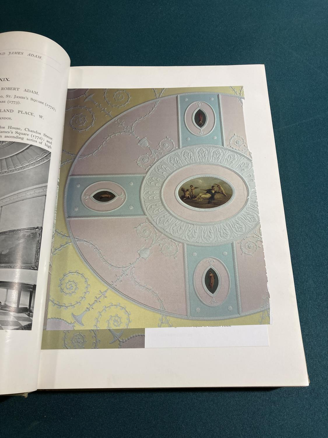 Bolton, Arthur T. The Architecture of Robert and James Adam, 2 volumes, first edition, plates, - Image 4 of 22