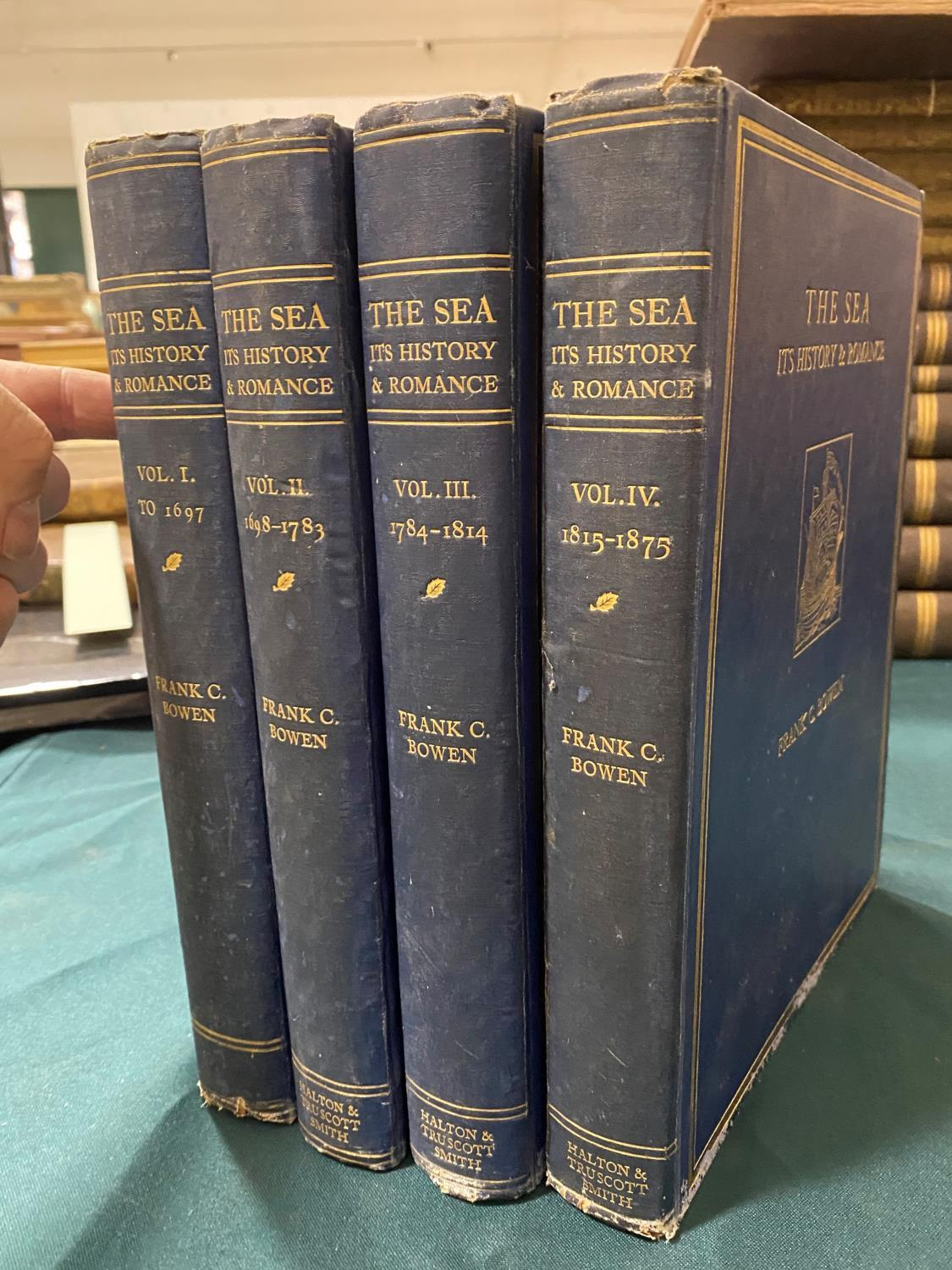 Bowen, Frank Charles. The Sea, Its History and Romance, 4 volumes, first edition, plates, some