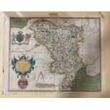 Saxton, Christopher. Universi Derbiensis Comitatus graphica descriptio, hand-coloured engraved