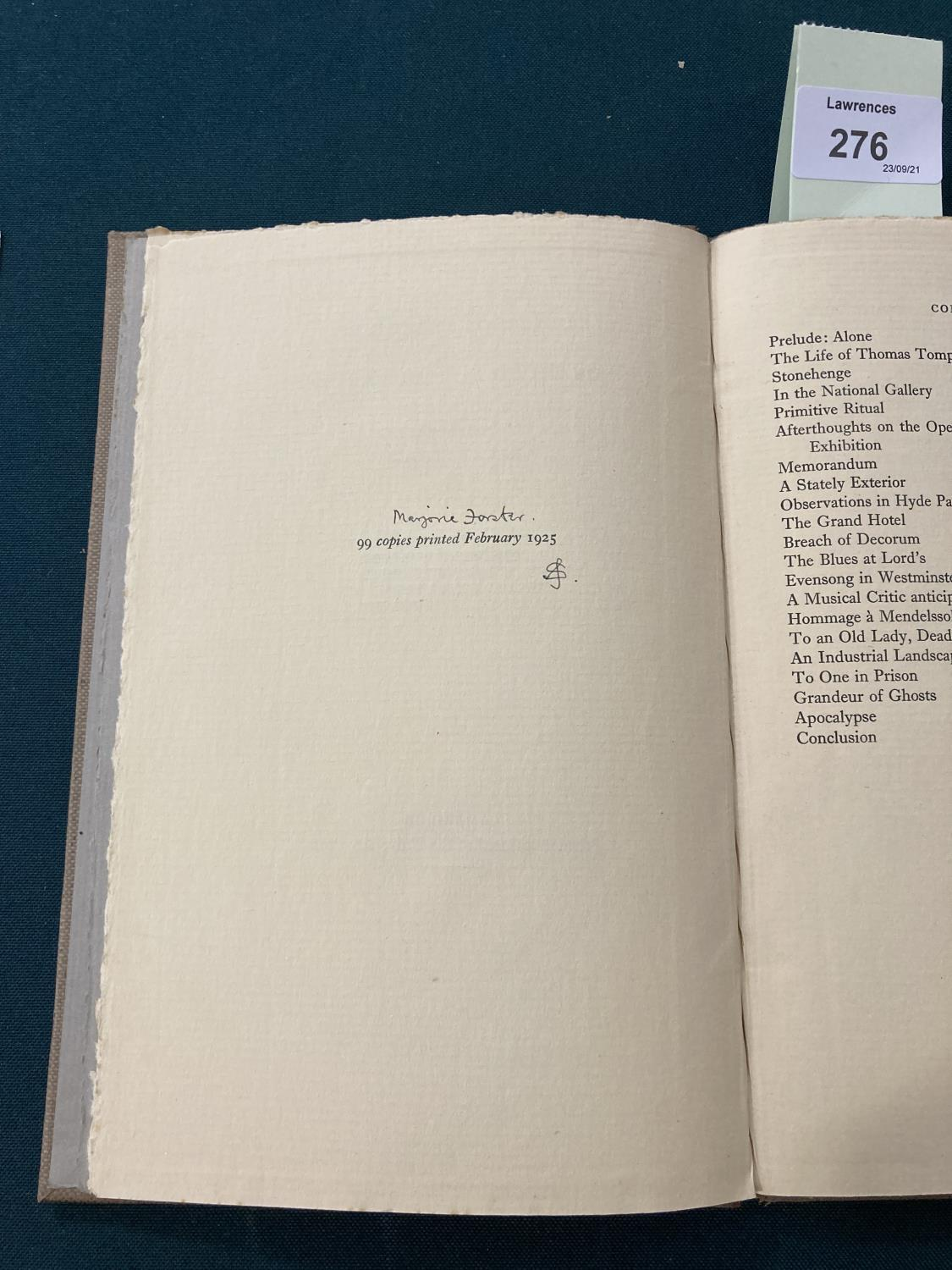 Sassoon, Siegfried. Lingual Exercises for Advanced Vocabularies, one of 99 copies, inscribed by - Image 4 of 6