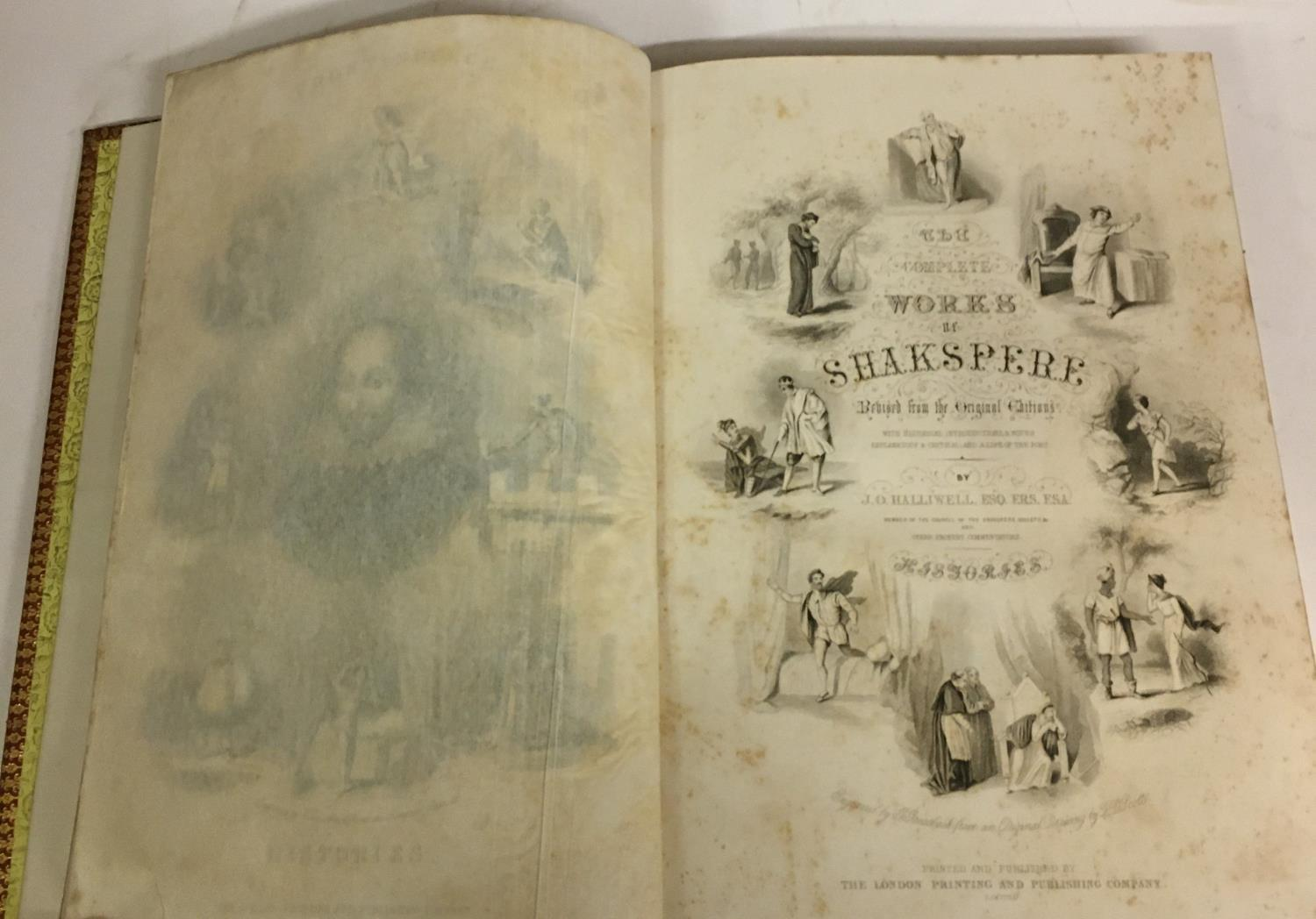 Shakespeare, William. The Complete Works, 3 volumes, plates, contemporary full morocco, decorated