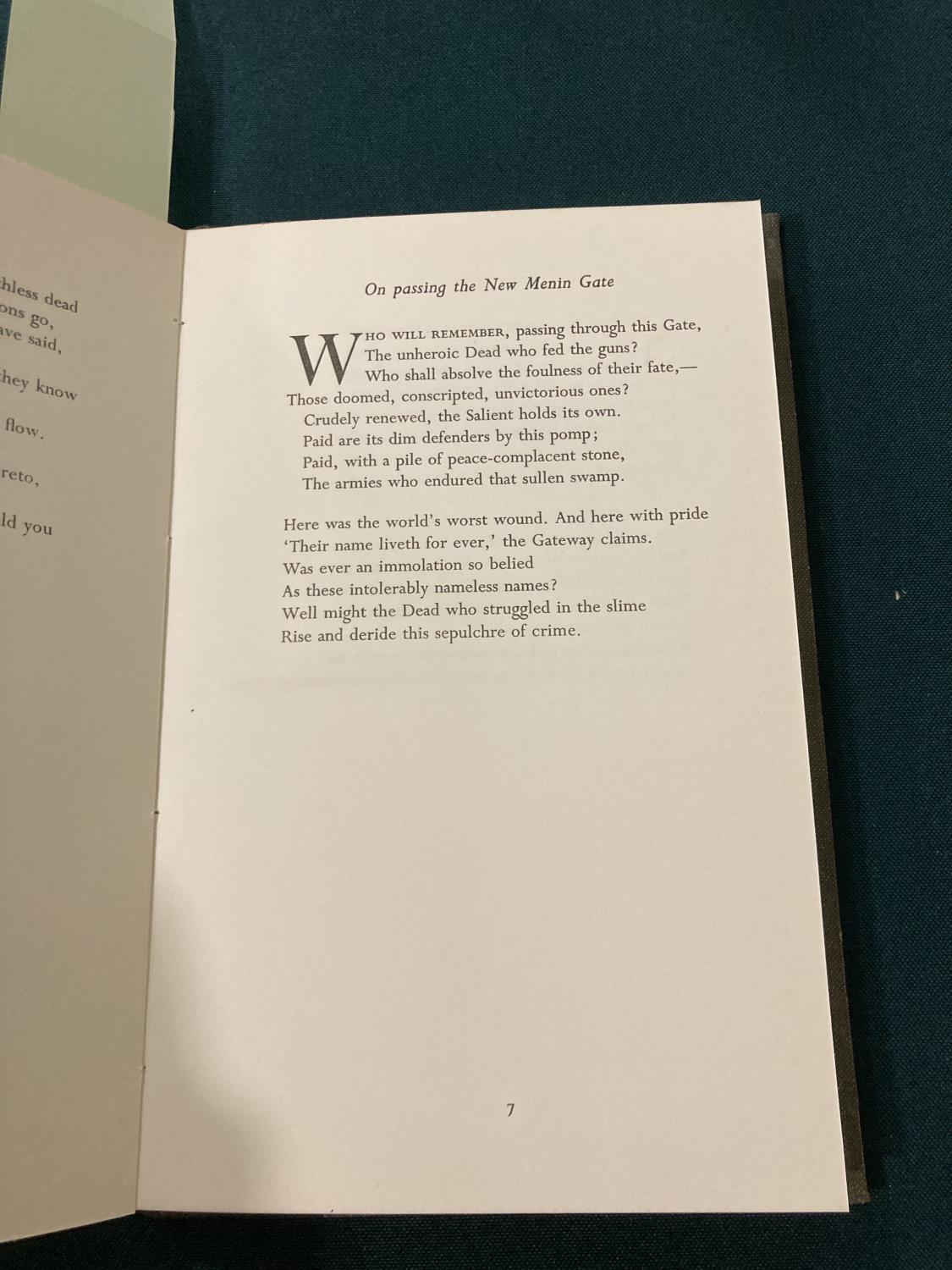 Sorley, Charles Hamilton. Marlborough and other poems, first edition, photographic portrait - Image 4 of 9