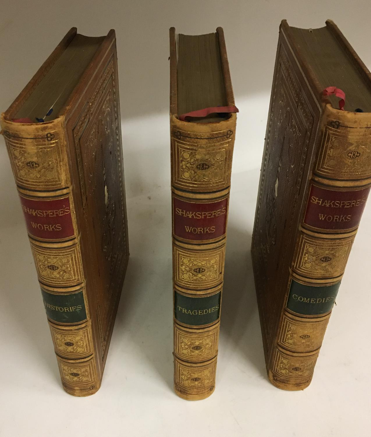 Shakespeare, William. The Complete Works, 3 volumes, plates, contemporary full morocco, decorated - Image 2 of 7