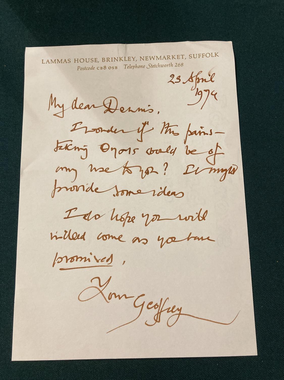 Keynes, Sir Geoffrey. Henry James in Cambridge, portrait frontispiece, presentation copy to Dennis - Image 23 of 23