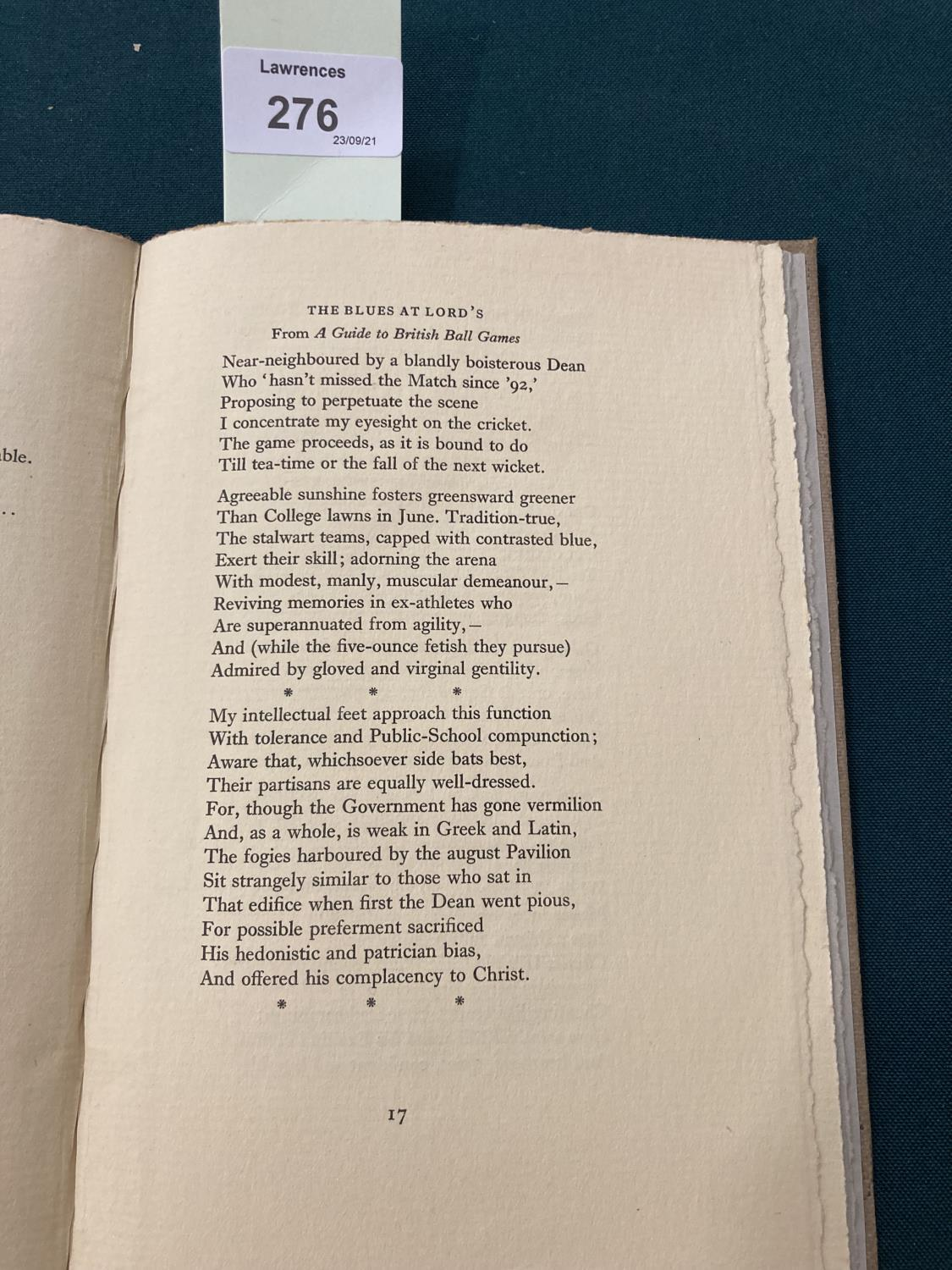 Sassoon, Siegfried. Lingual Exercises for Advanced Vocabularies, one of 99 copies, inscribed by - Image 5 of 6