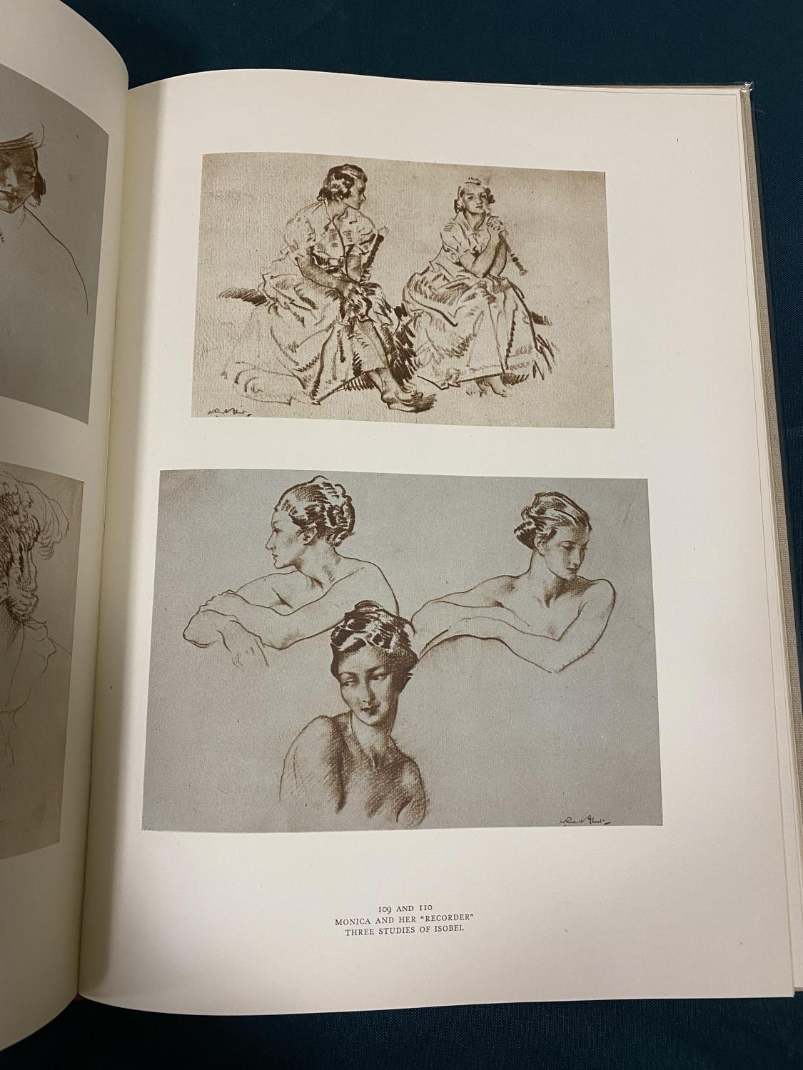Flint, William Russell. Drawings, number 25 of 125 copies, signed by the artist, with an ORIGINAL - Image 3 of 5