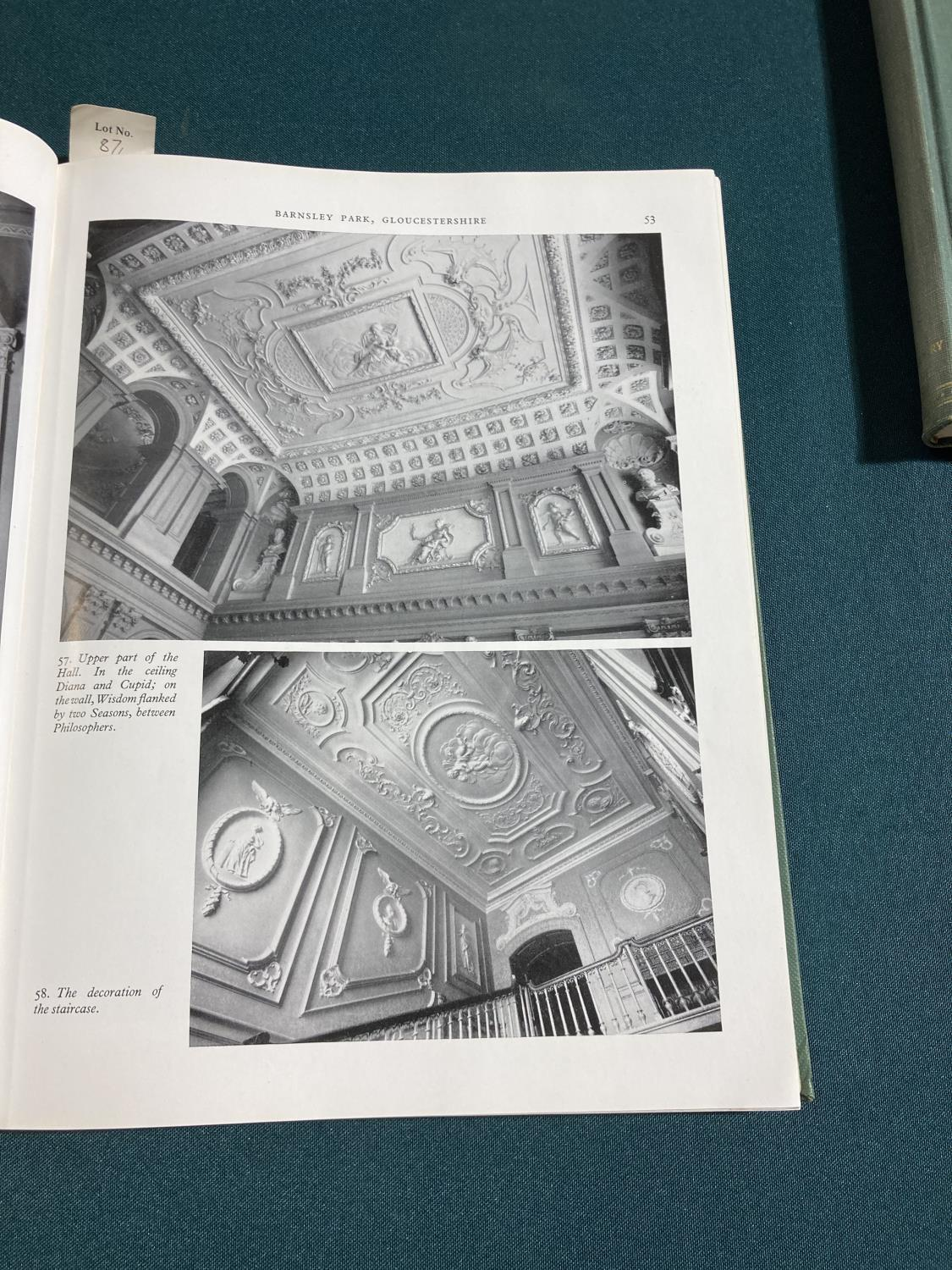 Bolton, Arthur T. The Architecture of Robert and James Adam, 2 volumes, first edition, plates, - Image 15 of 22