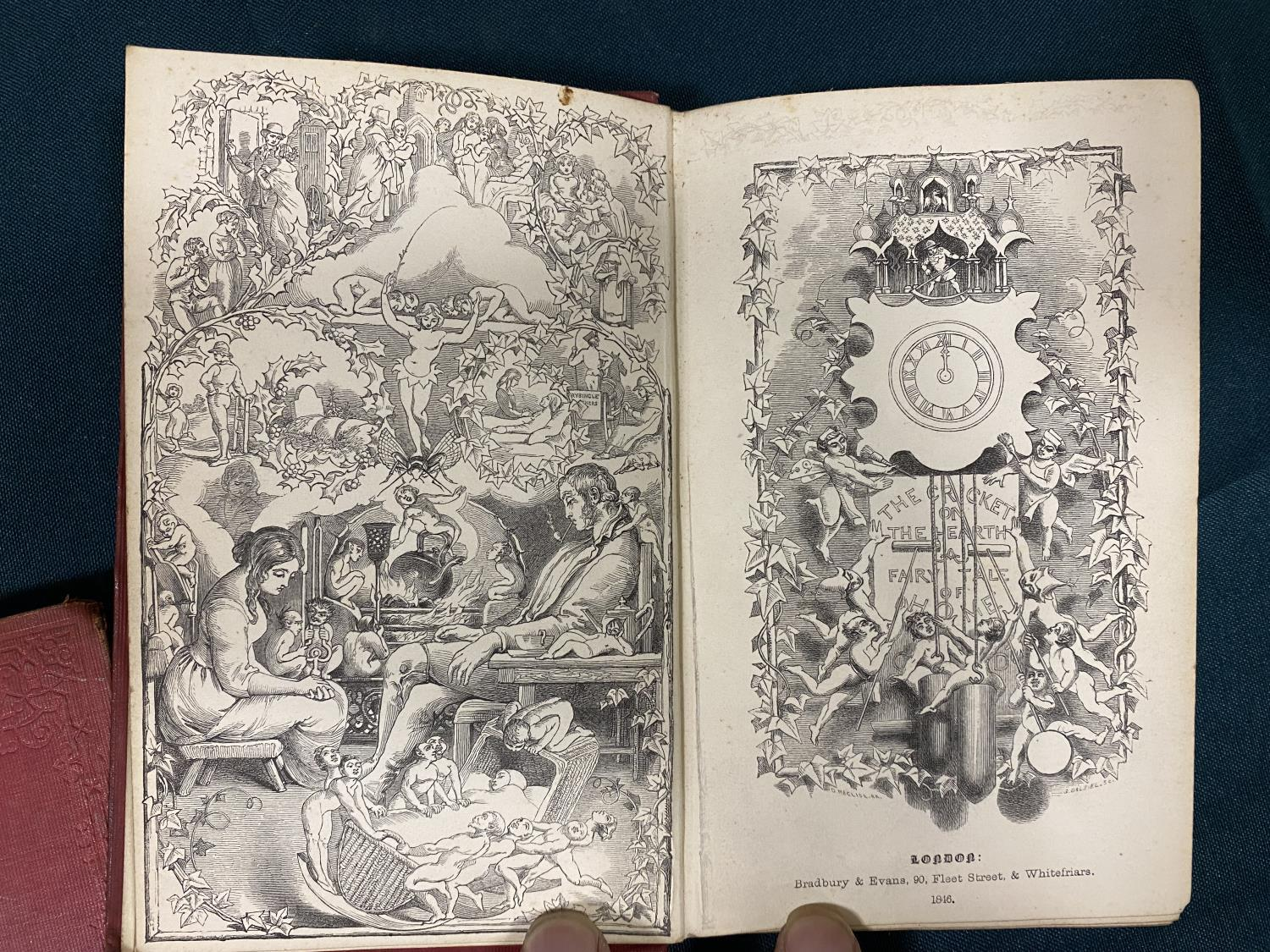 Dickens, Charles. [Christmas Books] The Chimes: A Goblin Story, first edition, first issue, 1845; - Image 3 of 4