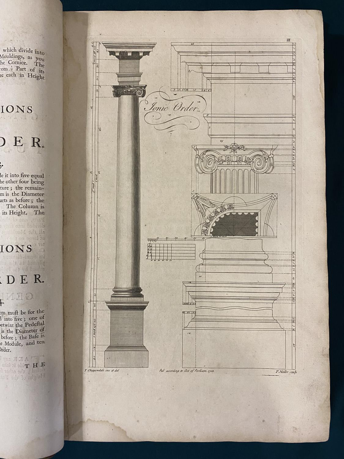 Chippendale, Thomas. The Gentleman and Cabinet-Maker's Director, second edition, 151 [of 160] - Image 2 of 5