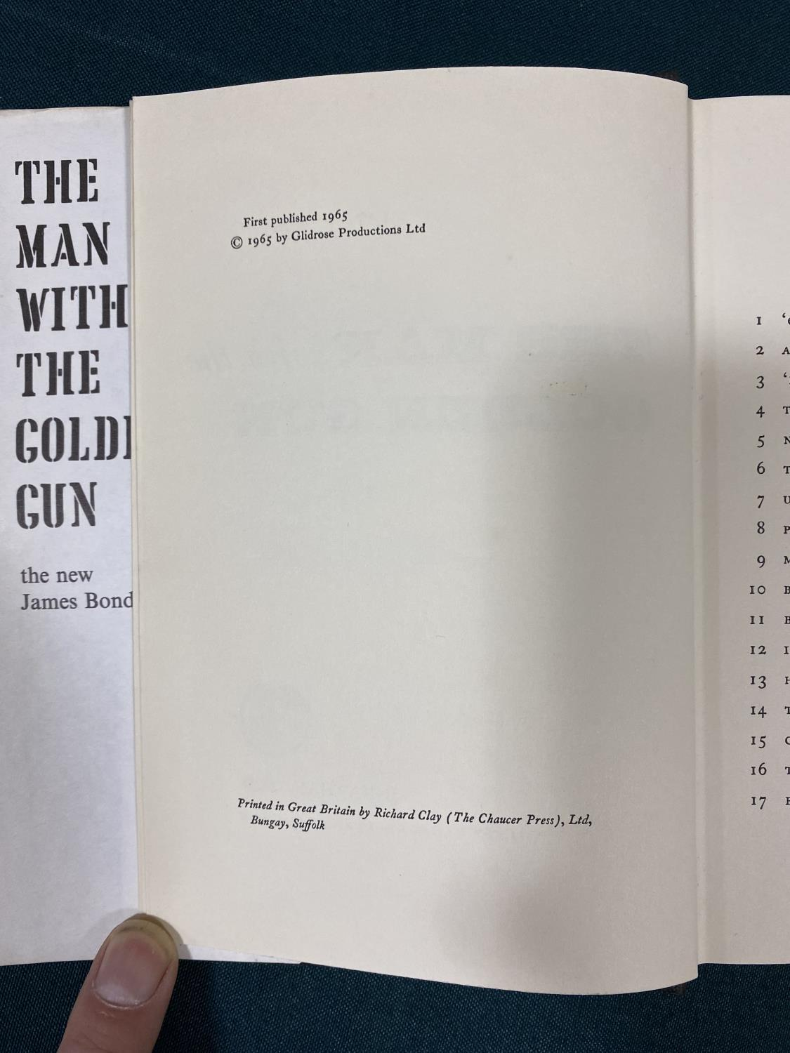 Fleming, Ian. The Man with the Golden Gun, first edition, half-title, original cloth, dust-jacket, - Image 3 of 5