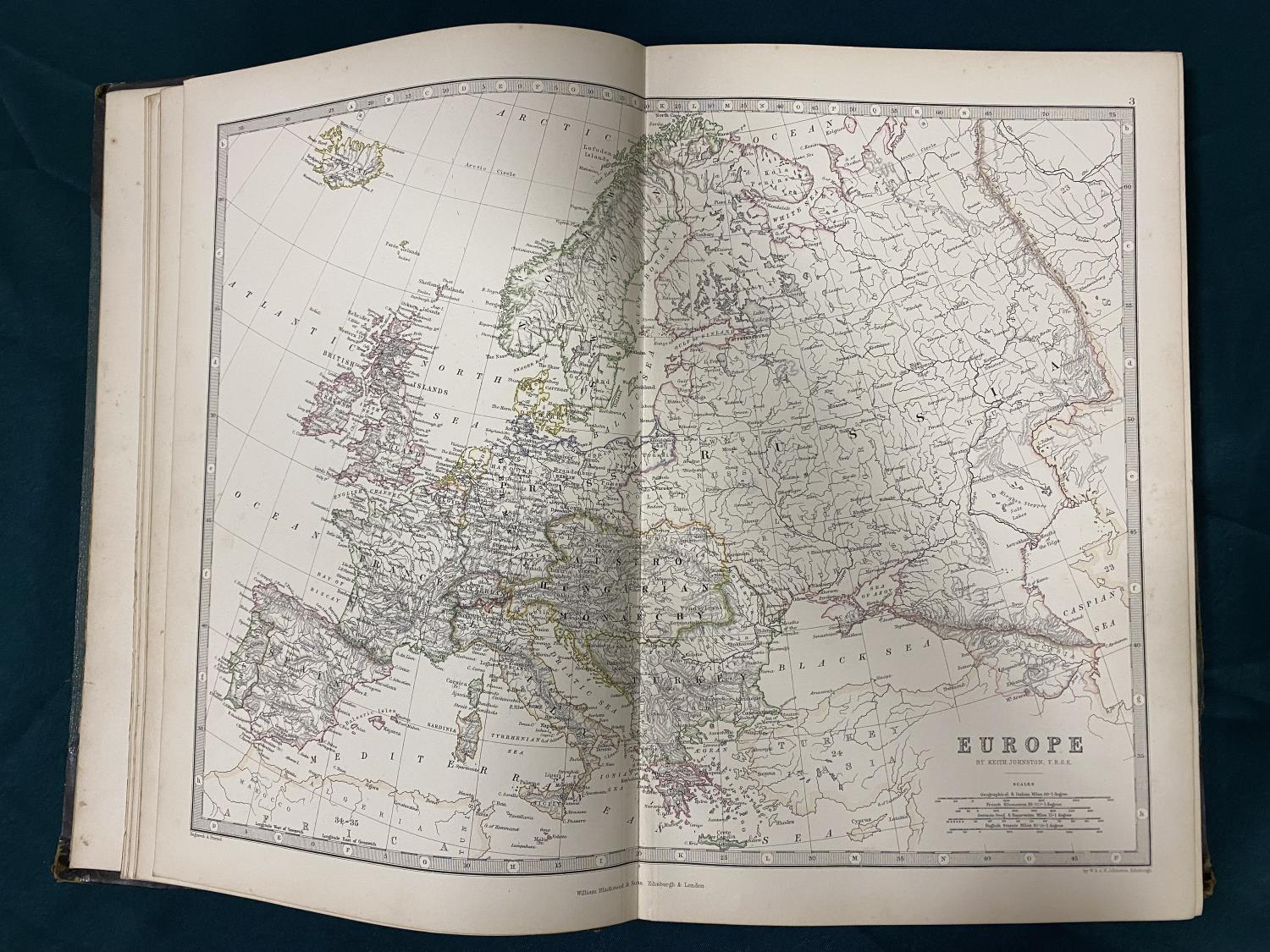 Johnston, Alexander Keith. Handy Royal Atlas of Modern Geography, new edition, 45 double-page maps - Image 3 of 3