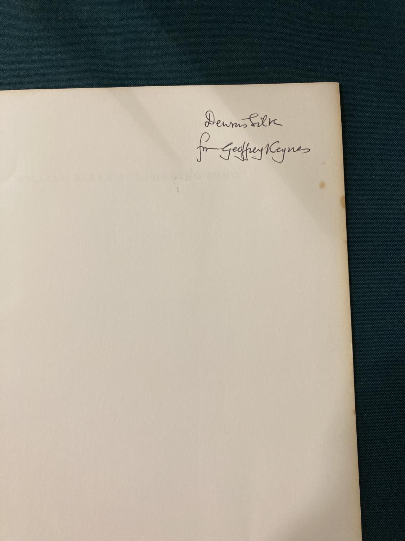 Keynes, Sir Geoffrey. Henry James in Cambridge, portrait frontispiece, presentation copy to Dennis - Image 9 of 23