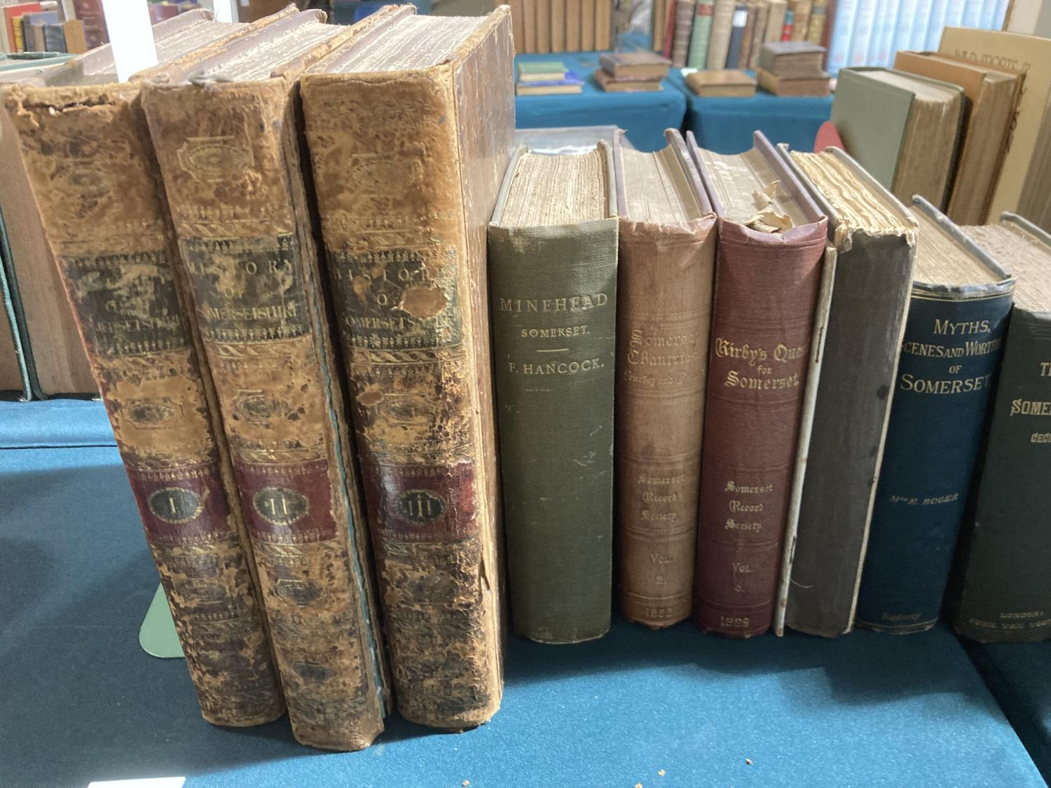 Collinson, John. The History and Antiquities of the County of Somerset, 3 volumes, first edition,