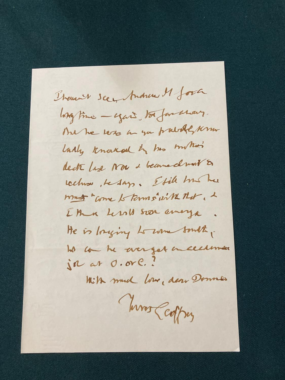 Keynes, Sir Geoffrey. Henry James in Cambridge, portrait frontispiece, presentation copy to Dennis - Image 20 of 23