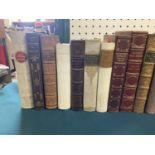 Fine Bindings, mostly literature and history, contemporary calf and morocco gilt, v.s. (34)
