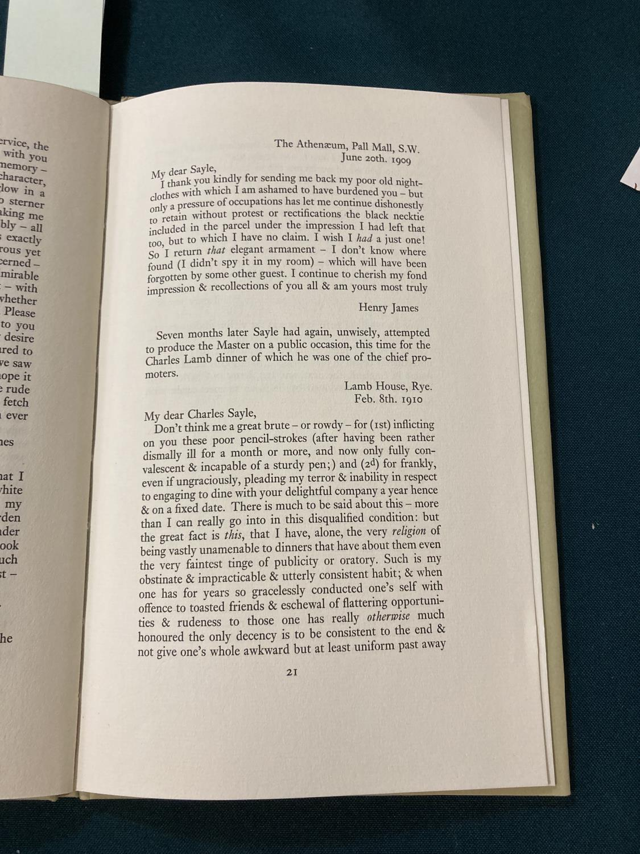 Keynes, Sir Geoffrey. Henry James in Cambridge, portrait frontispiece, presentation copy to Dennis - Image 4 of 23