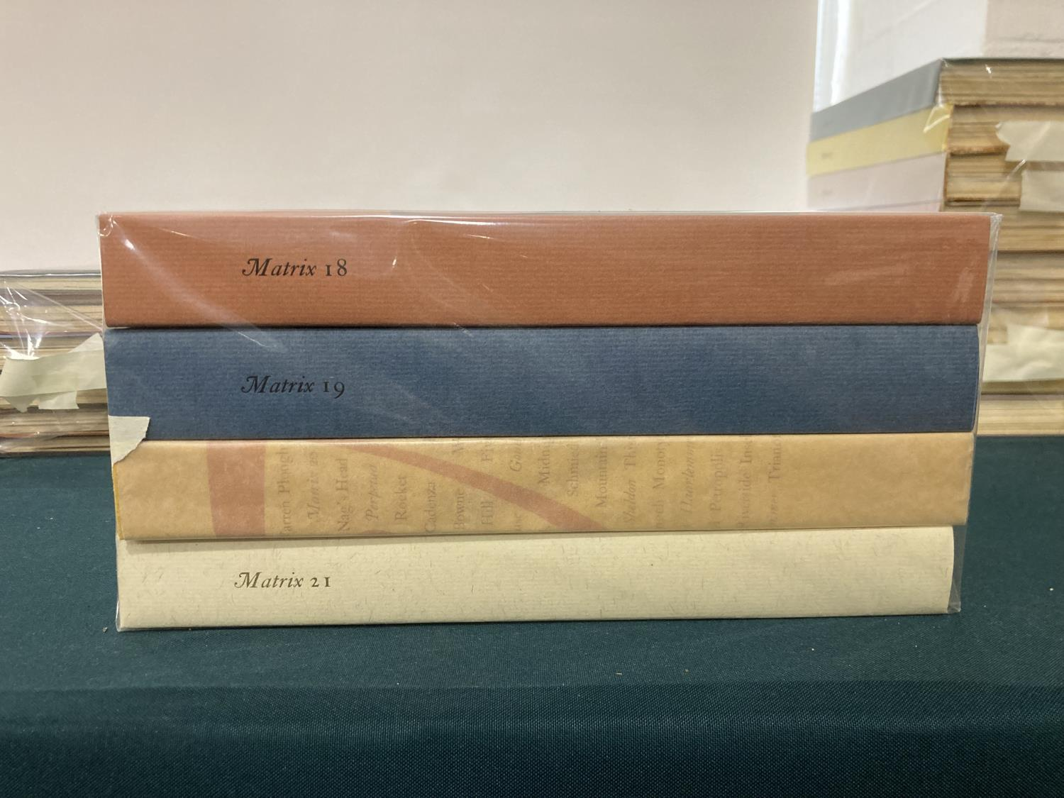 Randle, John and Rosalind, publishers. Matrix: A Review for Printers and Bibliophiles, volumes 1-21, - Image 3 of 4