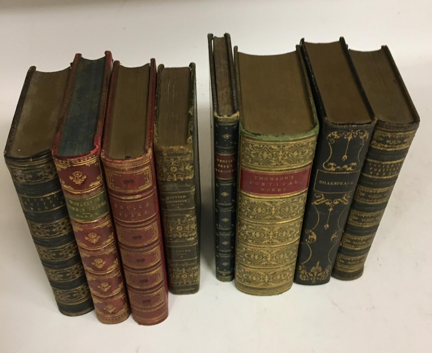 Shakespeare, William. The Complete Works, 3 volumes, plates, contemporary full morocco, decorated - Image 6 of 7